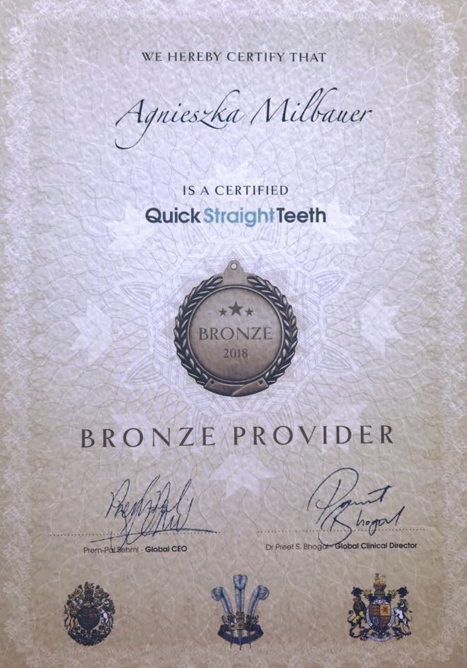 bronze provider Quick Straight teeth