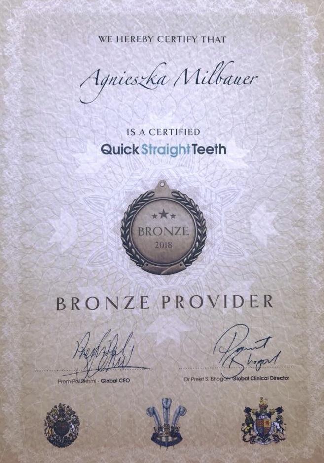 bronze provider Quick Straight teeth